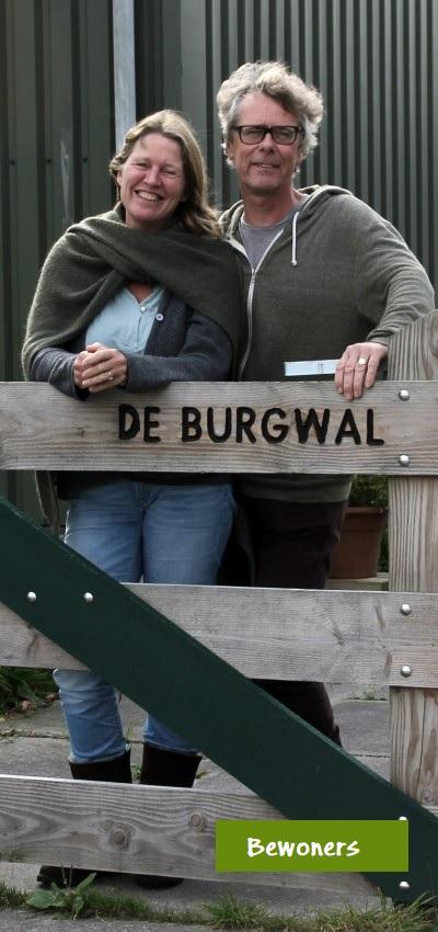 Bewoners Monique Tijssen en Arnold Nagel Erf de Burgwal